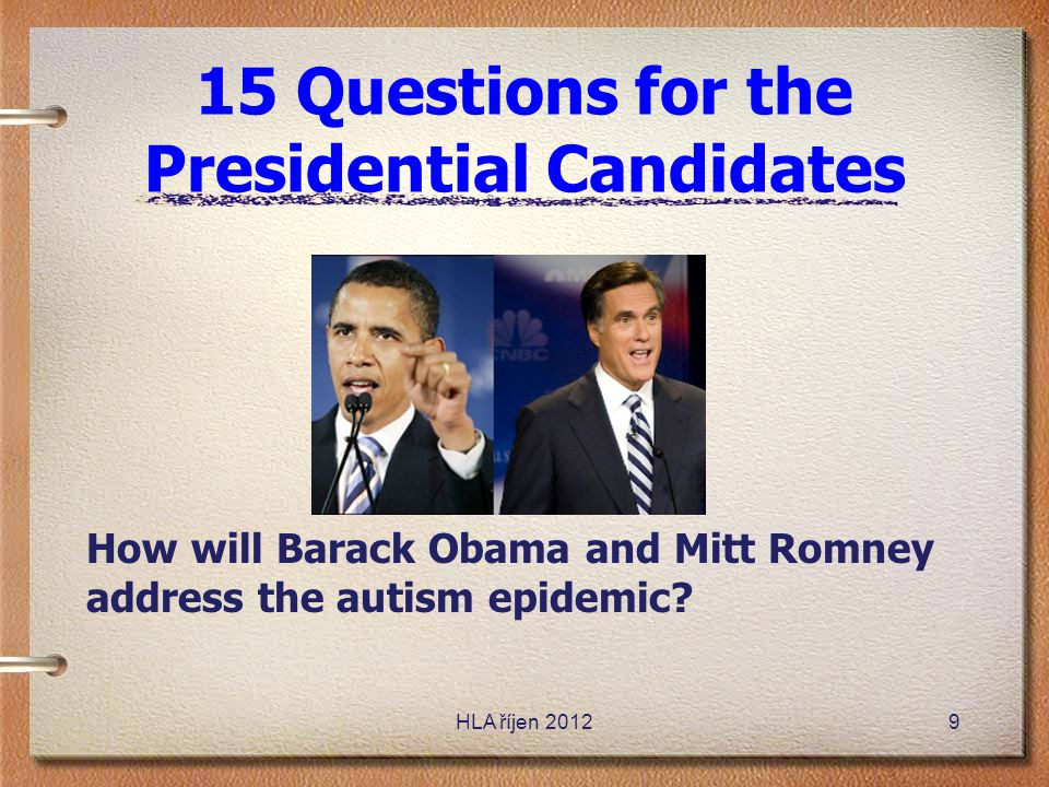 15 Questions for the Presidential Candidates