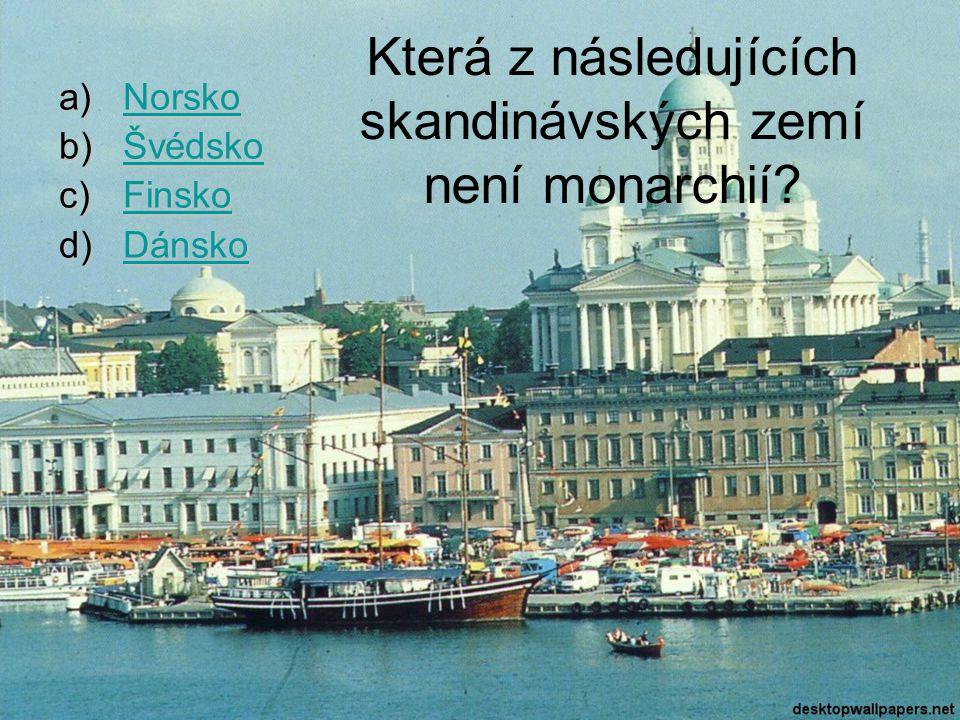 Která z následujících skandinávských zemí není monarchií