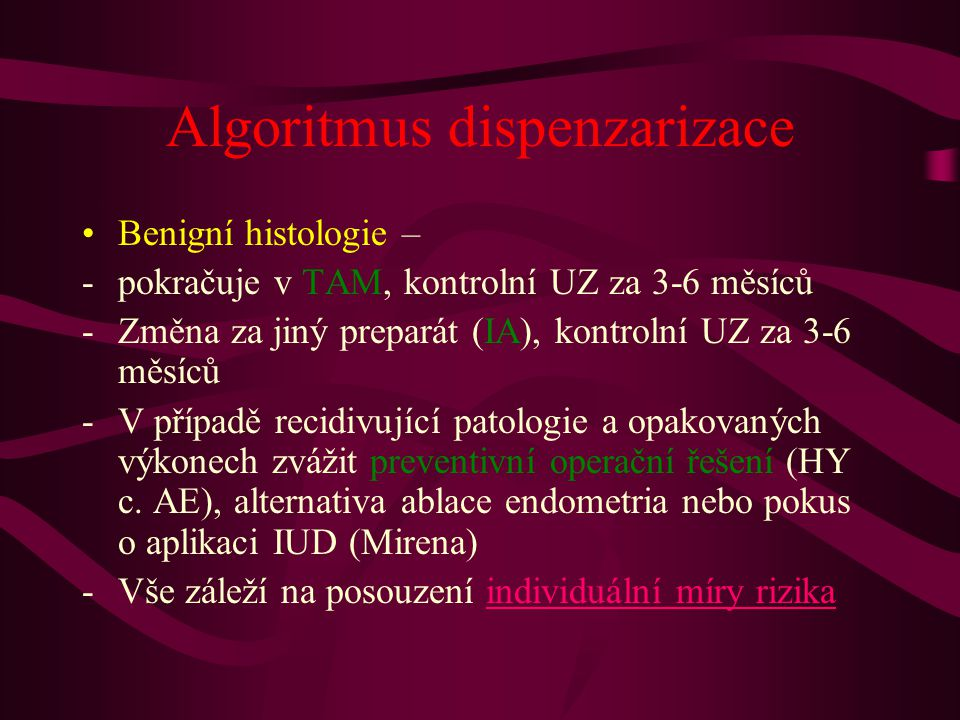 Algoritmus dispenzarizace