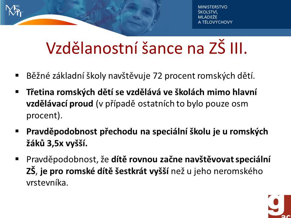 Vzdělanostní šance na ZŠ III.