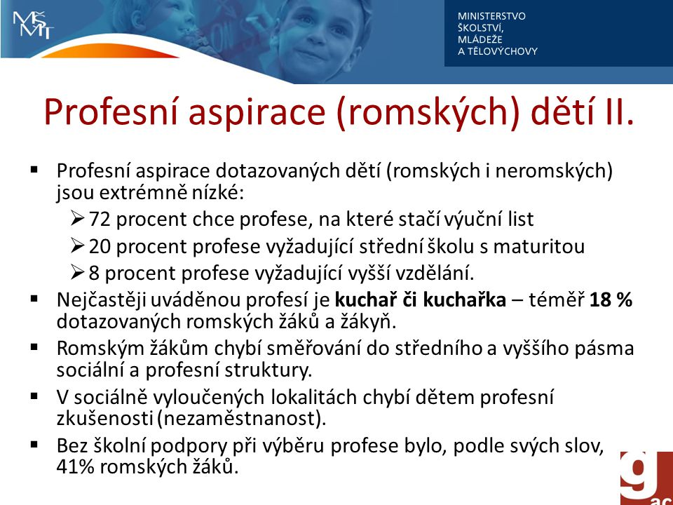Profesní aspirace (romských) dětí II.