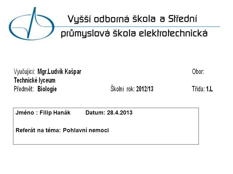 Jméno : Filip Hanák Datum: 28.4.2013