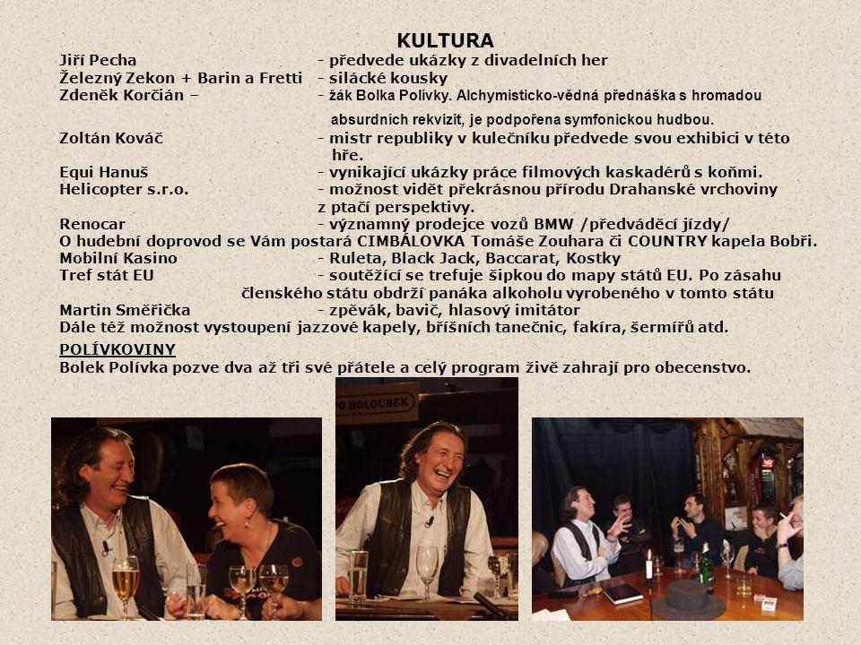 KULTURA Jiří Pecha - předvede ukázky z divadelních her