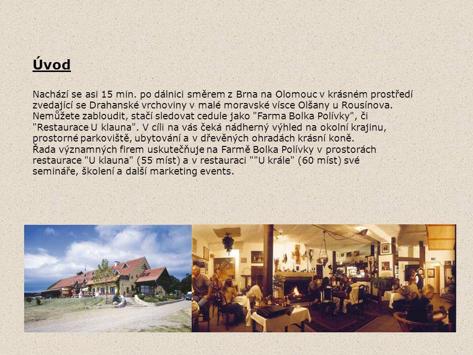 Úvod Nachází se asi 15 min. po dálnici směrem z Brna na Olomouc v krásném prostředí.