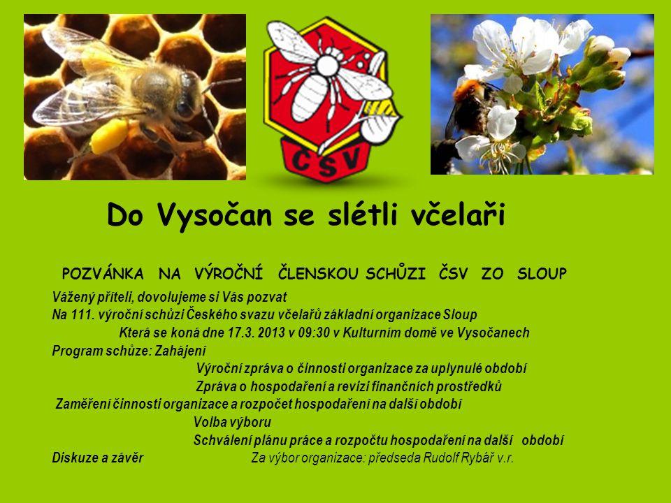 Do Vysočan se slétli včelaři