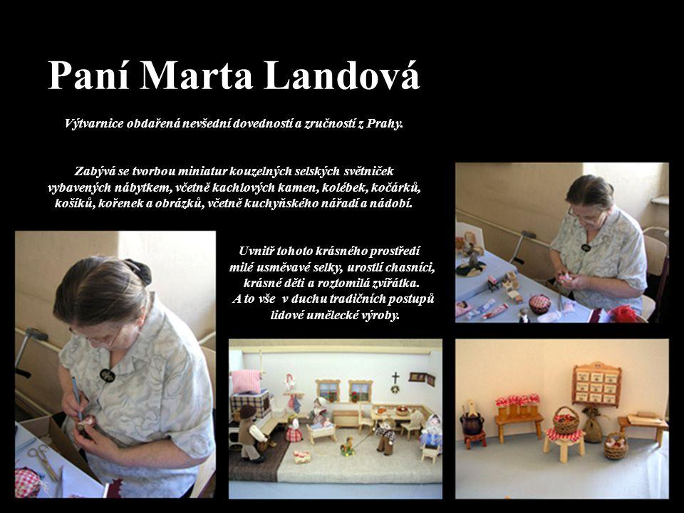 Paní Marta Landová