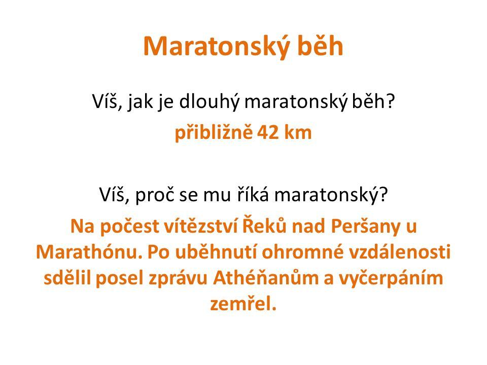 Maratonský běh