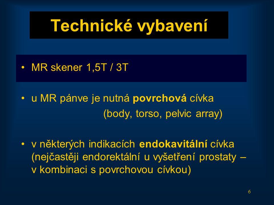 Technické vybavení MR skener 1,5T / 3T