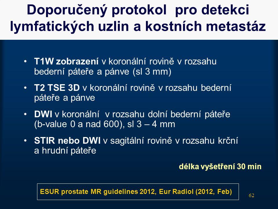 Doporučený protokol pro detekci lymfatických uzlin a kostních metastáz