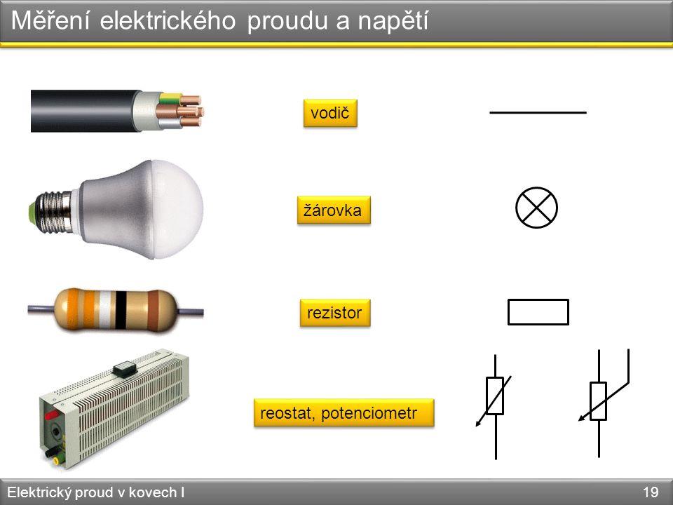 Měření elektrického proudu a napětí