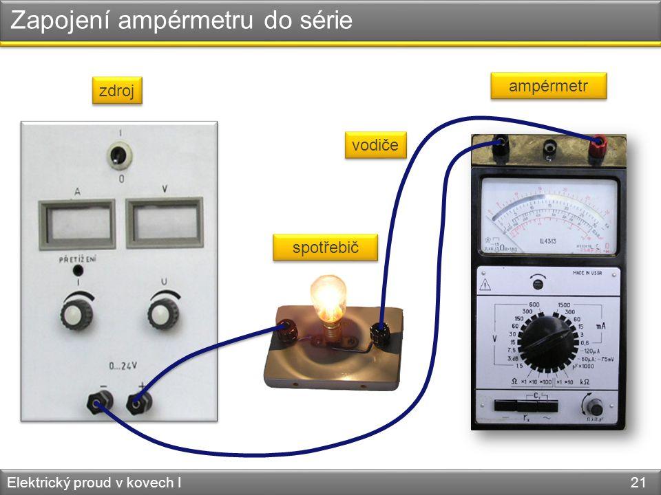Zapojení ampérmetru do série