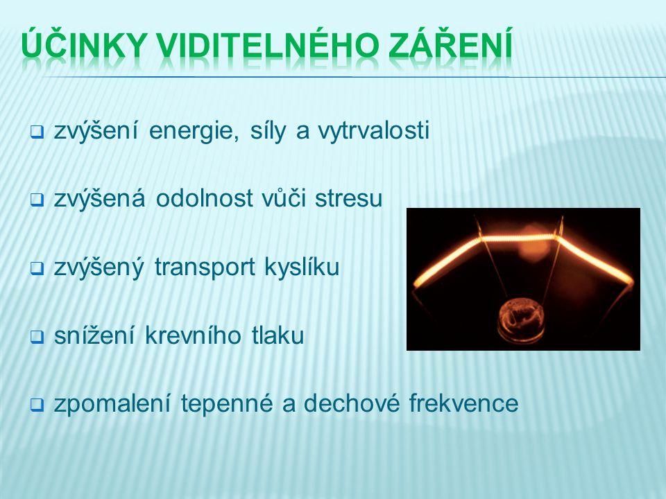 účinky viditelného záření