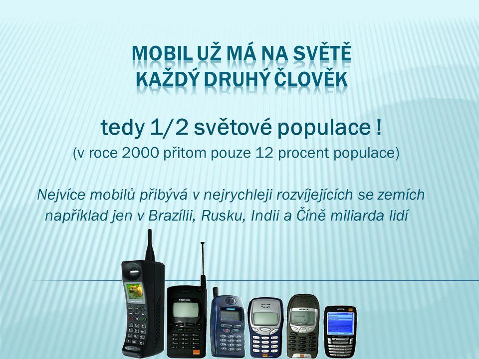 Mobil už má na světě každý druhý člověk