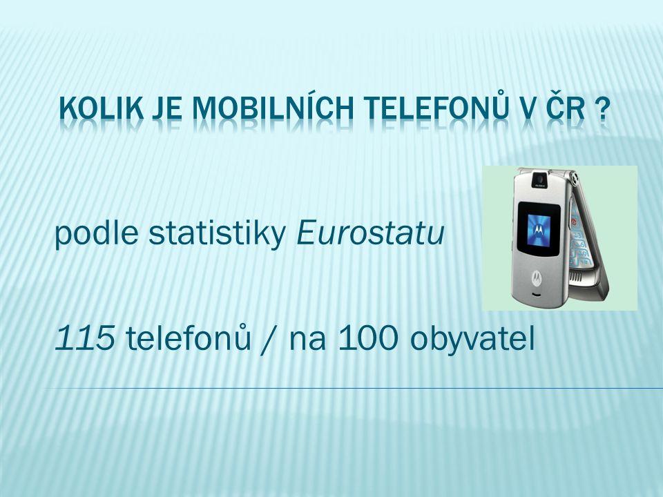 Kolik je mobilních telefonů v ČR