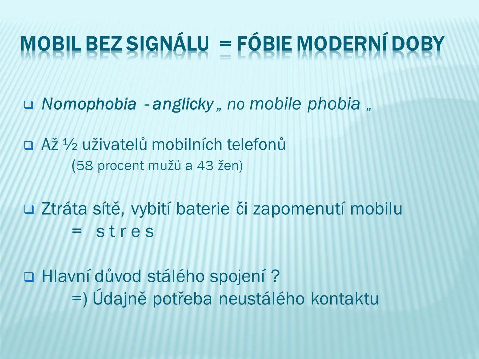 Mobil bez signálu = fóbie moderní doby