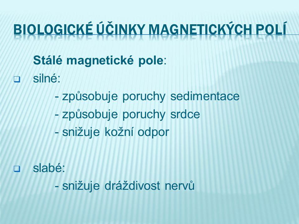 Biologické účinky magnetických polí