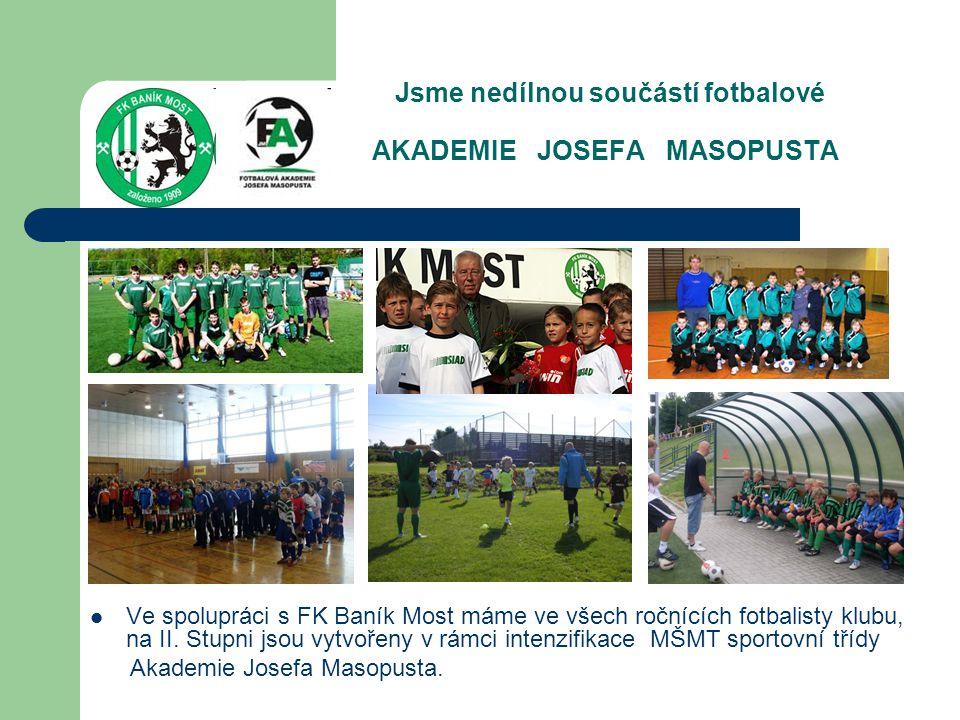 Jsme nedílnou součástí fotbalové AKADEMIE JOSEFA MASOPUSTA