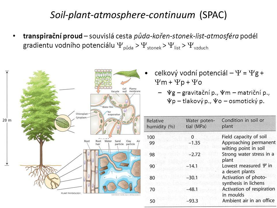 Soil-plant-atmosphere-continuum (SPAC)