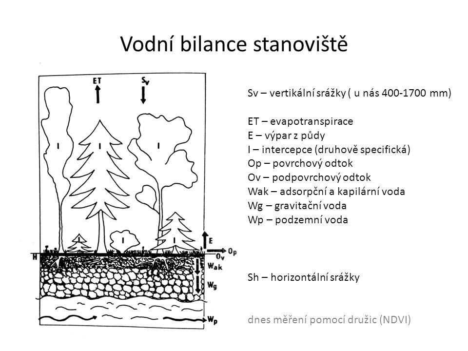Vodní bilance stanoviště