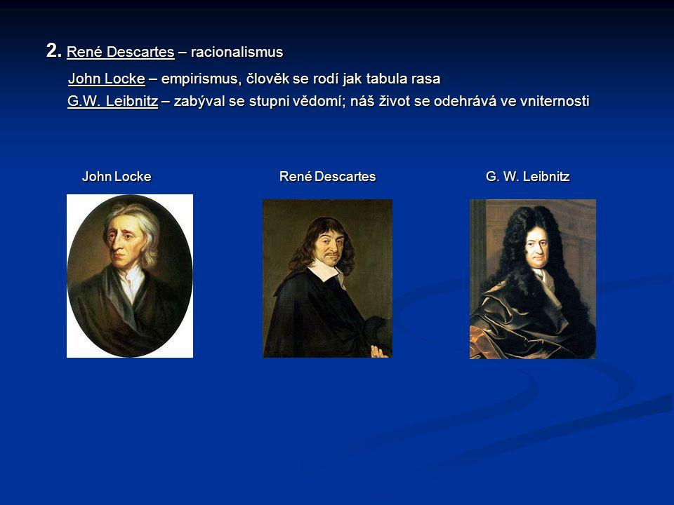 2. René Descartes – racionalismus