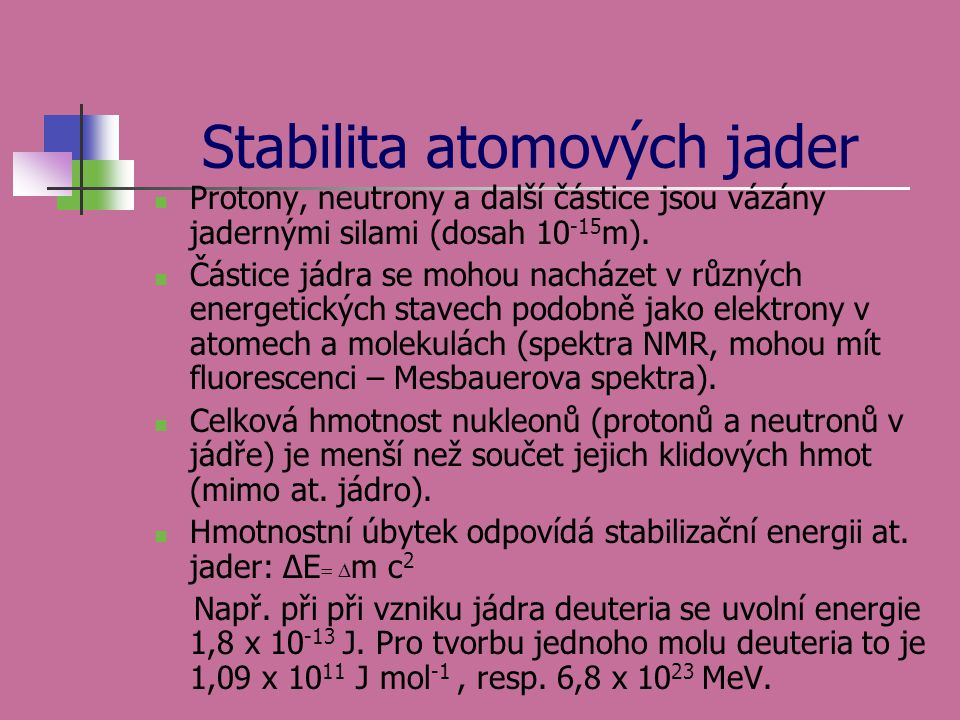 Stabilita atomových jader