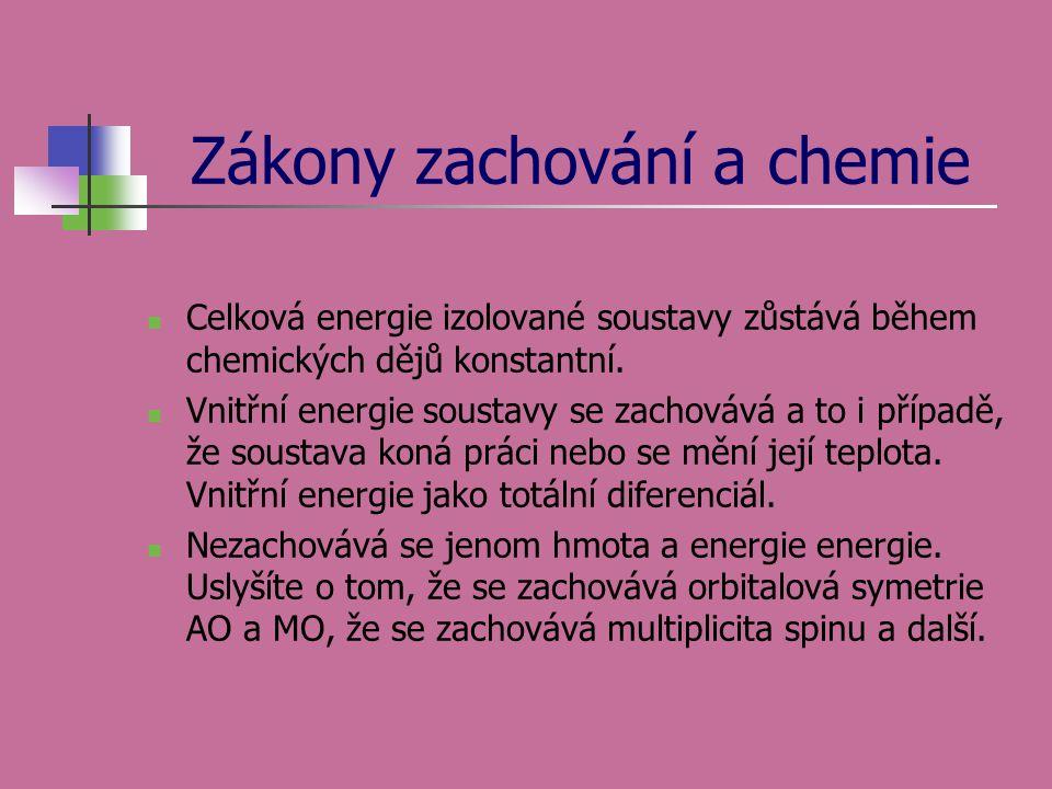 Zákony zachování a chemie