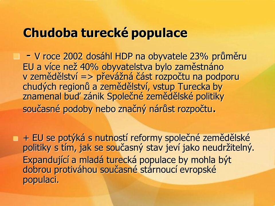 Chudoba turecké populace