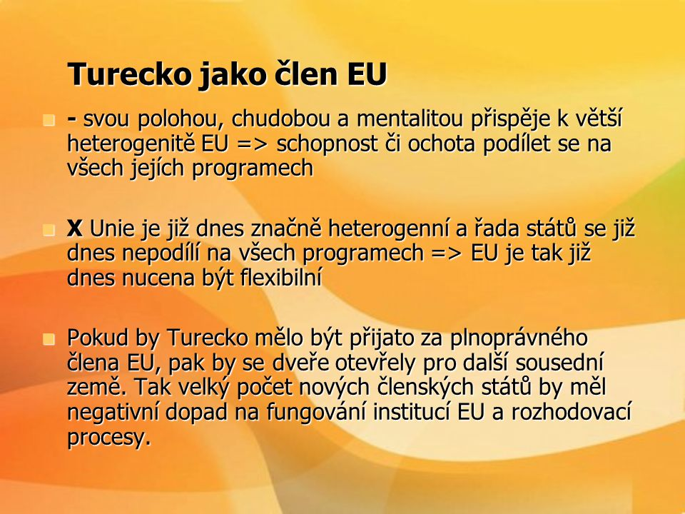 Turecko jako člen EU