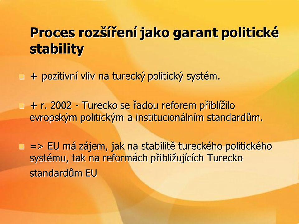 Proces rozšíření jako garant politické stability