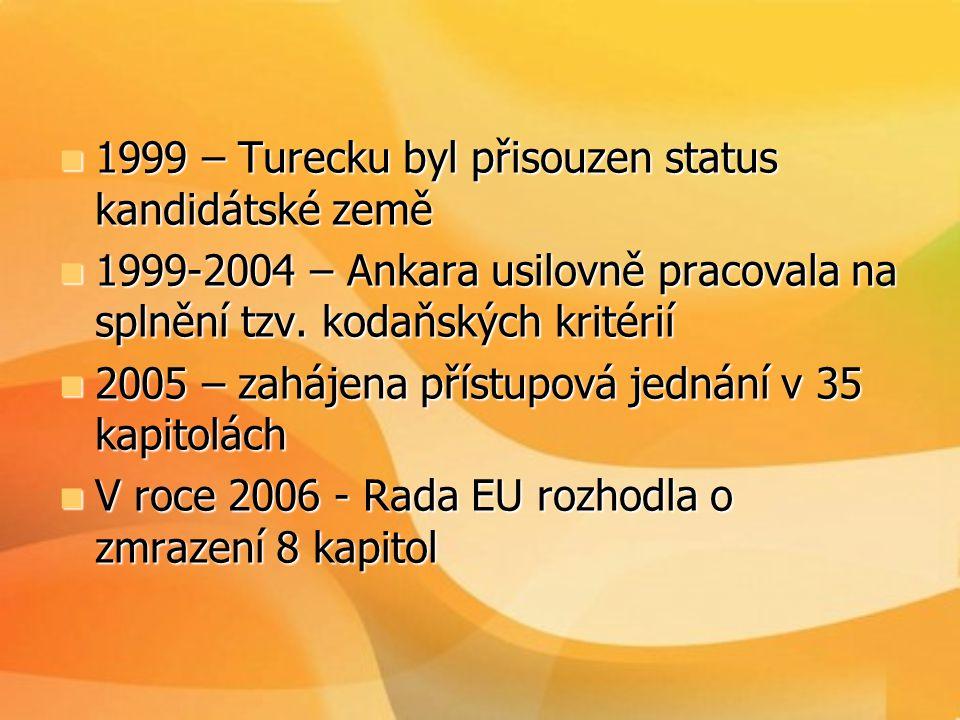 1999 – Turecku byl přisouzen status kandidátské země