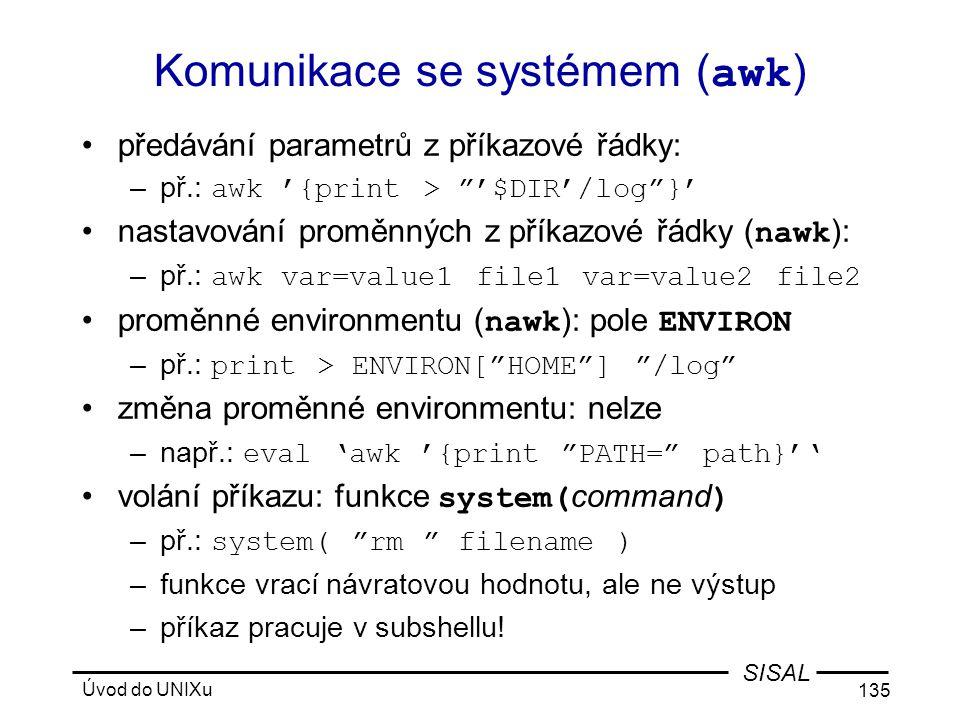 Komunikace se systémem (awk)