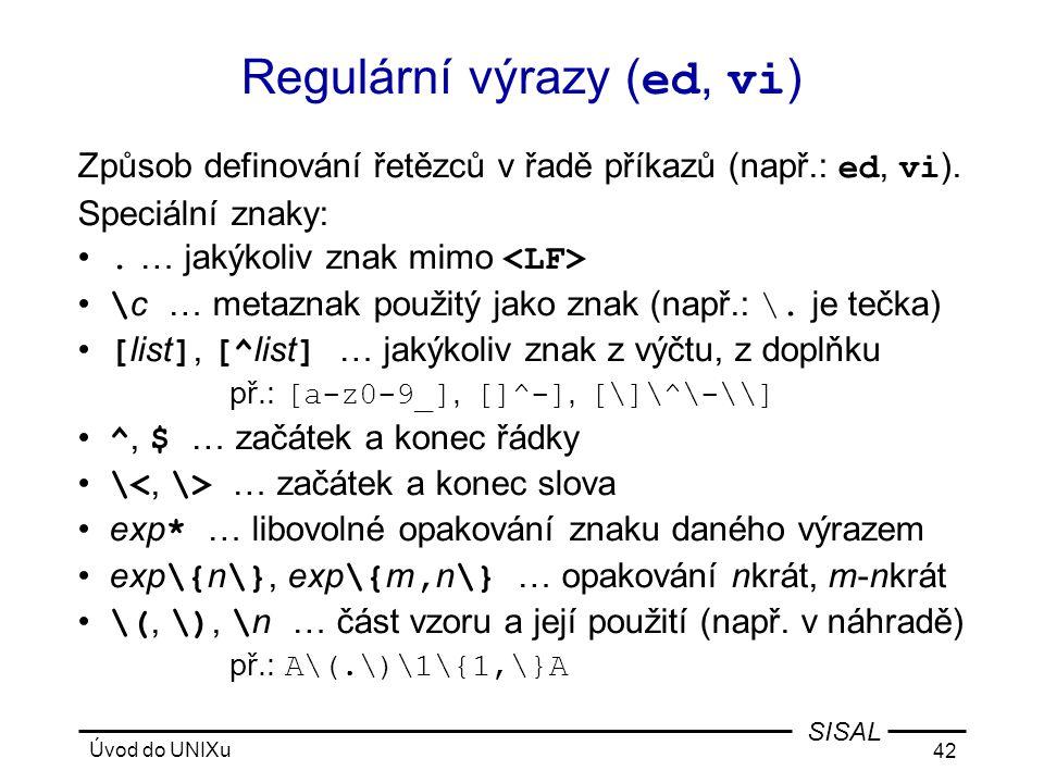 Regulární výrazy (ed, vi)