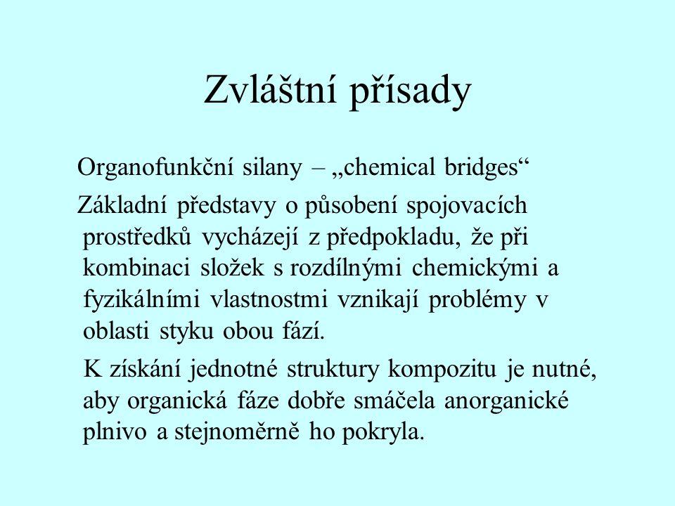 """Zvláštní přísady Organofunkční silany – """"chemical bridges"""