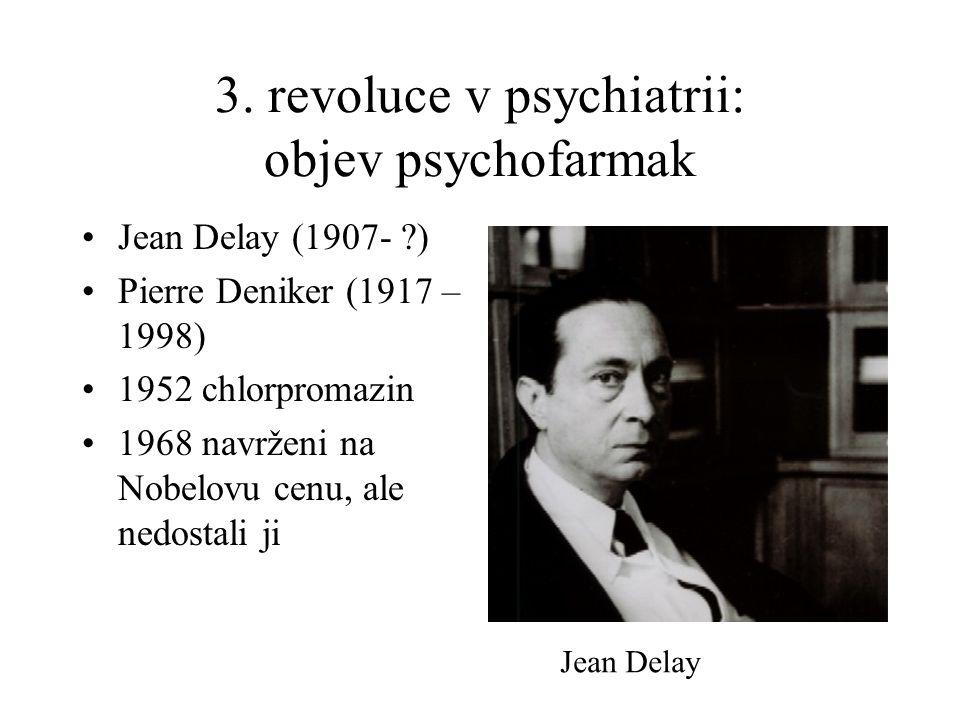 3. revoluce v psychiatrii: objev psychofarmak