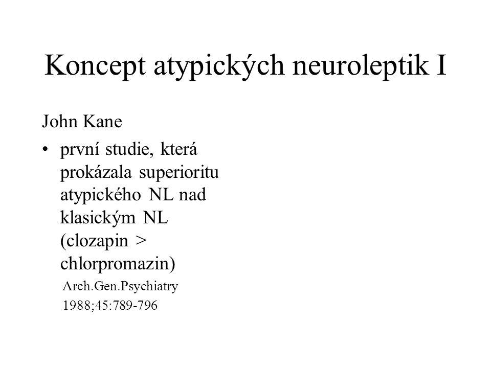 Koncept atypických neuroleptik I