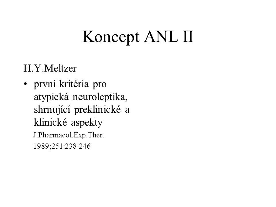 Koncept ANL II H.Y.Meltzer