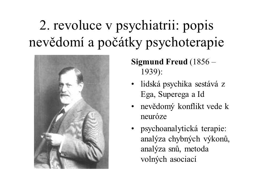 2. revoluce v psychiatrii: popis nevědomí a počátky psychoterapie