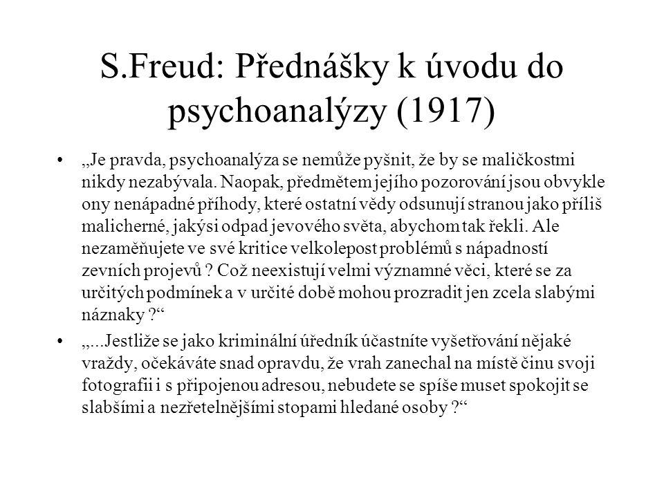 S.Freud: Přednášky k úvodu do psychoanalýzy (1917)