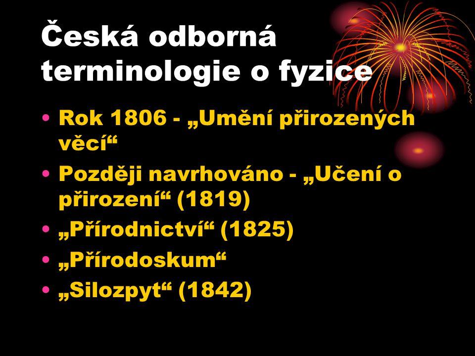 Česká odborná terminologie o fyzice