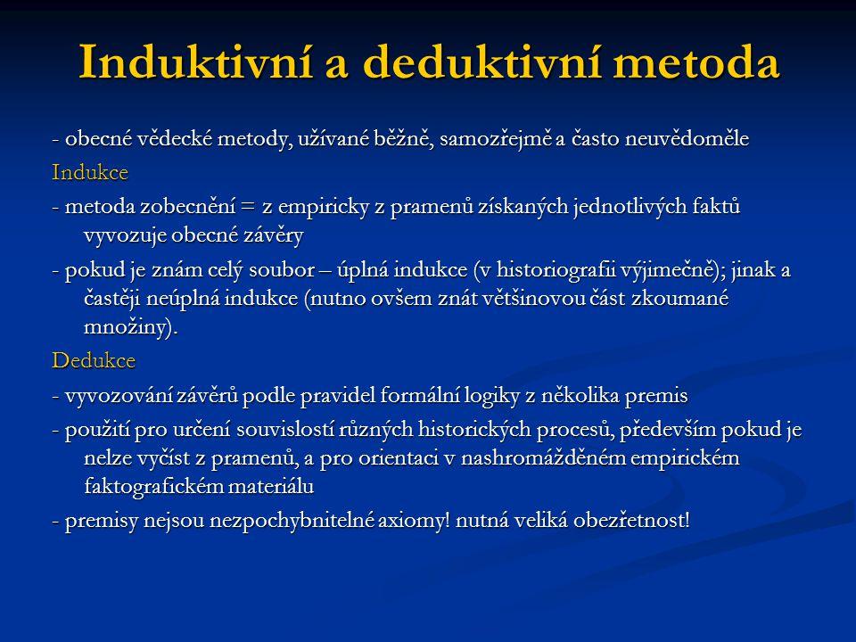 Induktivní a deduktivní metoda