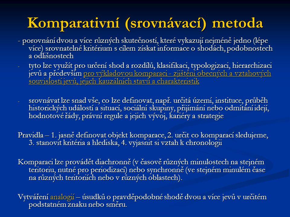 Komparativní (srovnávací) metoda