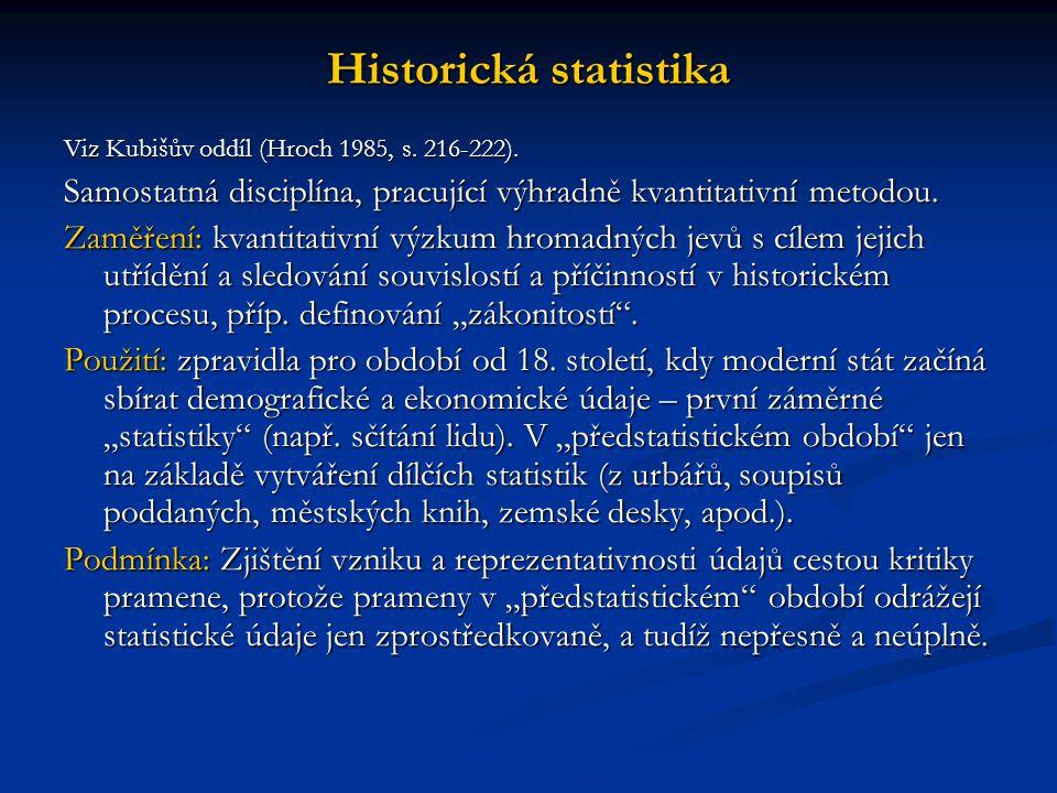 Historická statistika
