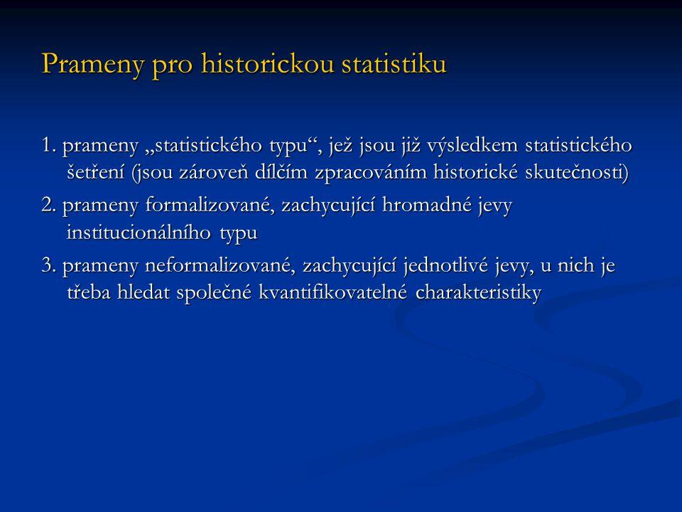 Prameny pro historickou statistiku
