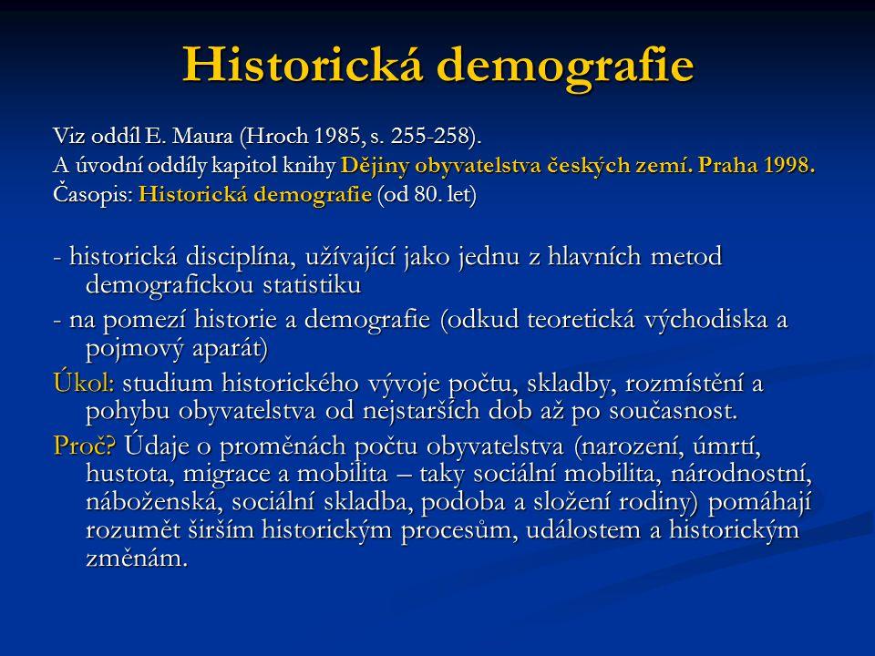 Historická demografie