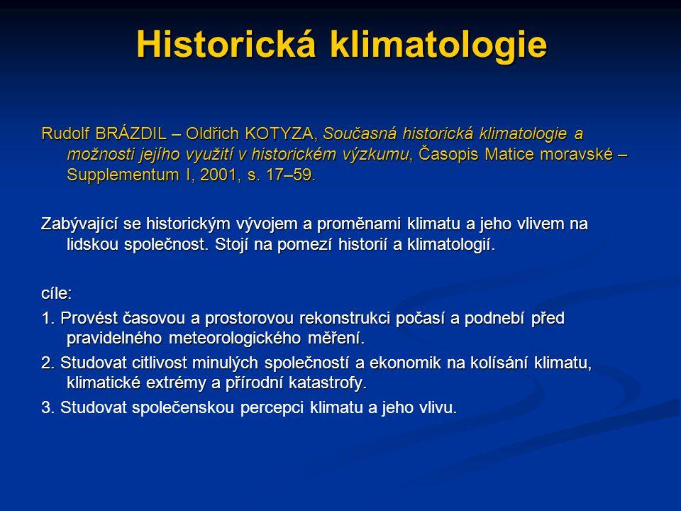 Historická klimatologie