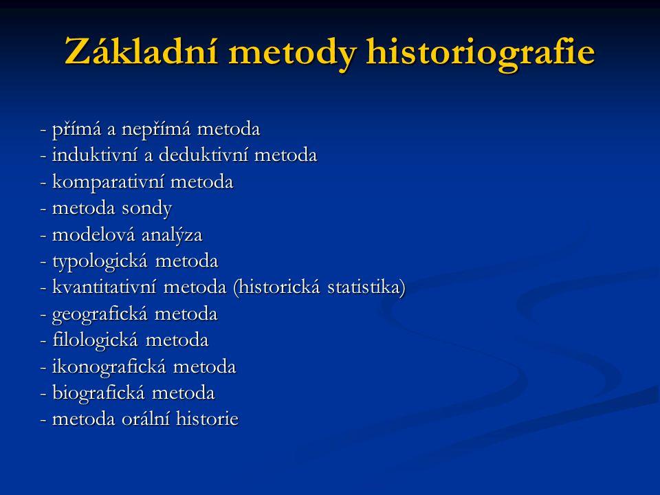Základní metody historiografie