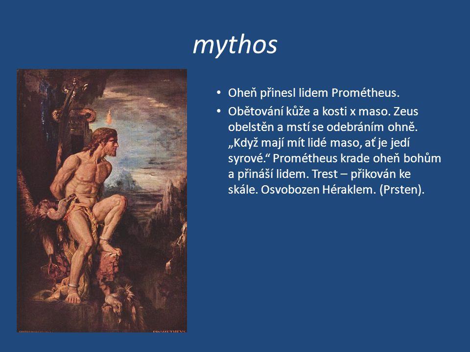 mythos Oheň přinesl lidem Prométheus.