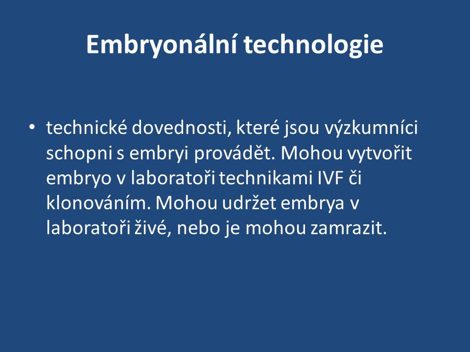 Embryonální technologie