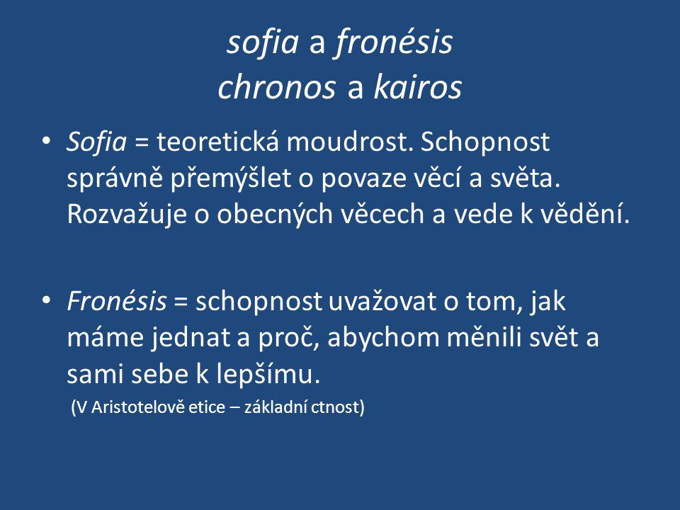 sofia a fronésis chronos a kairos