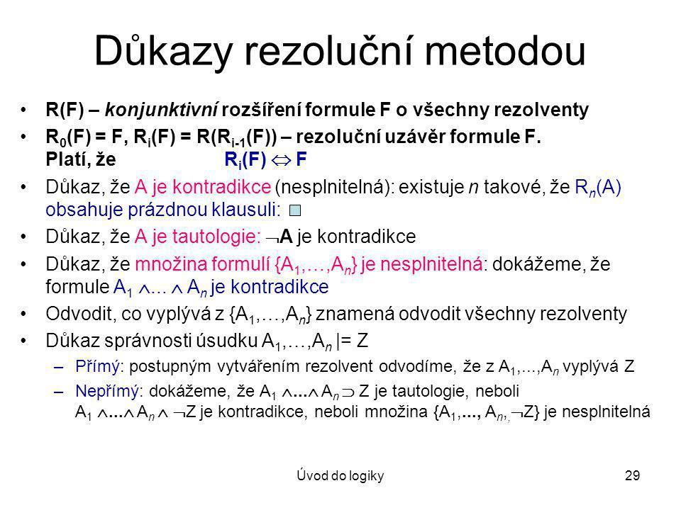 Důkazy rezoluční metodou